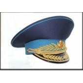 Фуражка генеральская военно-космических сил модельная золото