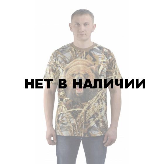 Футболка Медведь круг, камуфляж. Мир футболок