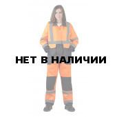 Костюм ЖЕНСКИЙ летний сигнальный Скандин куртка/полукомб. цвет: оранжевый/т.синий
