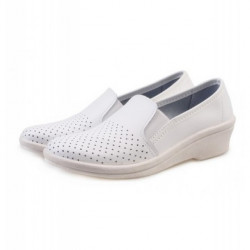 Туфли женские белые (натуральная кожа)