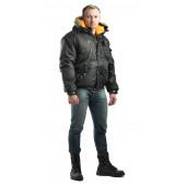 Куртка укороченная мужская Аляска зимняя. чёрная