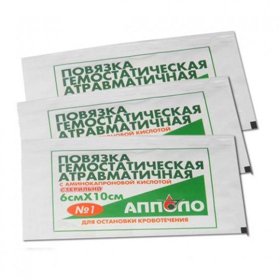 Повязка атравматичная ПАГ Апполо-Гем 6х10