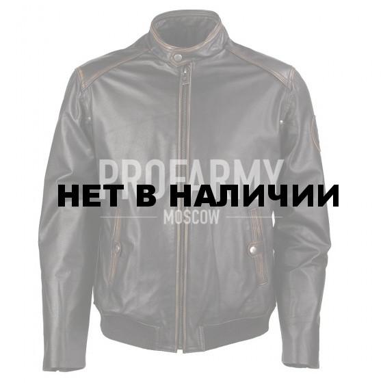 Куртка демисезонная из натуральной кожи Camel Elvis Antico