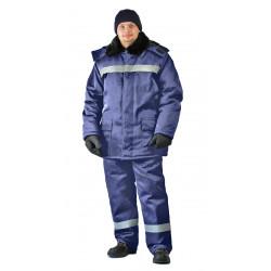Костюм зимний СТРОИТЕЛЬ-оксфорд куртка/брюки, цвет: т.синий