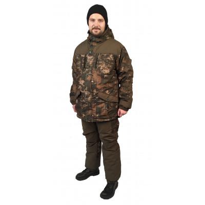 Костюм мужской Nordwig Donbass зимний, камуфляж Карта, ткань Алова мембрана