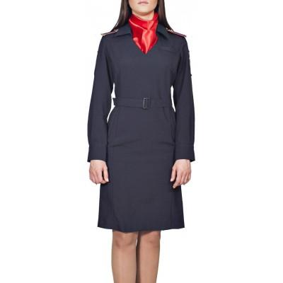 Платье Полиция/Юстиция МВД с длинным рукавом нового образца