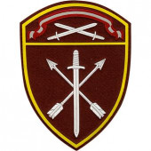 Нашивка на рукав с липучкой Росгвардия Северо-Западного округа в/ч Оперативного назначения пластик
