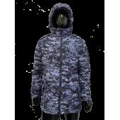 Куртка зимняя РОСГВАРДИЯ без подстежки цвет синяя точка (ткань рип-стоп)
