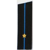 Погоны Авиация ВМФ вышитые Младший лейтенант повседневные со скосом на китель