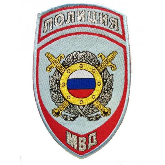 Нашивка на рукав Полиция Подразделения охраны общественного порядка МВД России на рубашку тканая