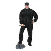 Костюм Горка 3 куртка/брюки, камуфляж МУЛЬТИКАМ ЧЁРНЫЙ, ткань грета