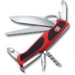 Нож перочинный Victorinox RangerGrip 79 (0.9563.MC) 130 мм 12 функций красный/черный