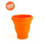 Стакан складной силиконовый Silicon Folding Mug Оранжевый