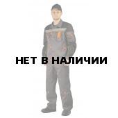 Костюм РОЛЬФ куртка/полукомб, цвет: Т.СЕРЫЙ/ЧЕРНЫЙ/ЛИМОННЫЙ КАНТ