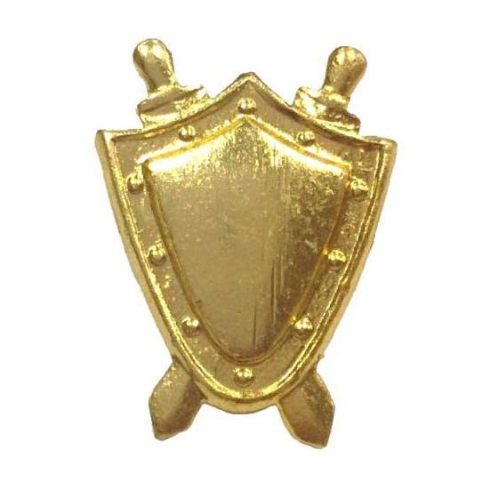 Эмблема на погоны Прокуратура золото металл малая 17х13