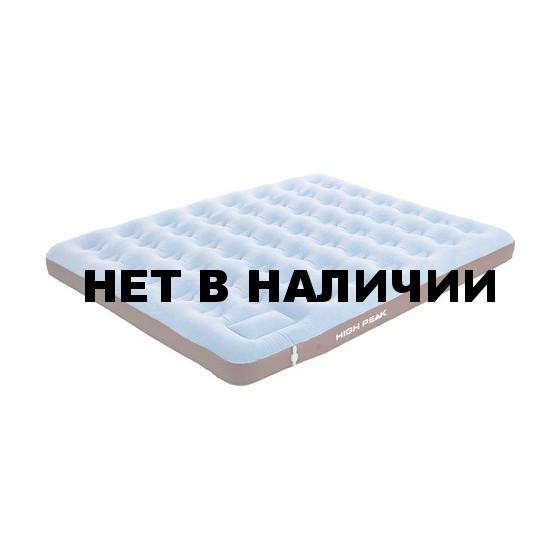 Матрац надувной Air bed King Comfort Plus синий/коричневый, 210 x 185 x 20 см, 40068