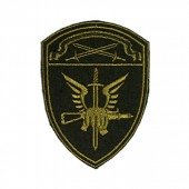 Нашивка на рукав Росгвардия Спецназ Северо-Западного округа полевая вышивка шелк