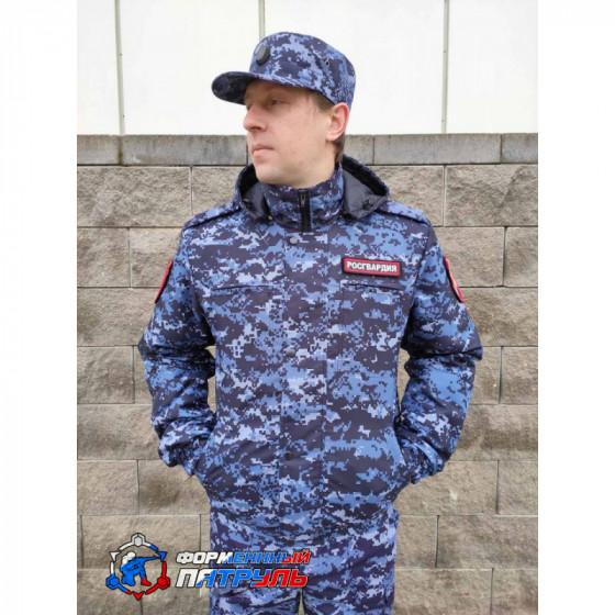 Куртка РОСГВАРДИЯ демисезонная укороченная синяя точка (мембрана микро рип-стоп/стежка 100 г)