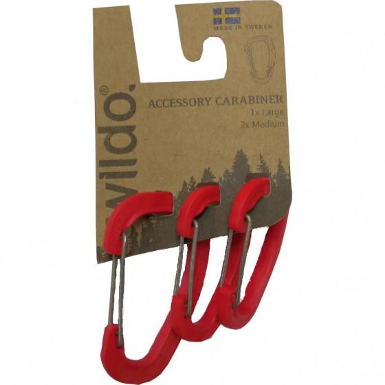 Карабины для аксессуаров в наборе ACCESSORY CARABINER 3-SET от WILDO® RED, 89653