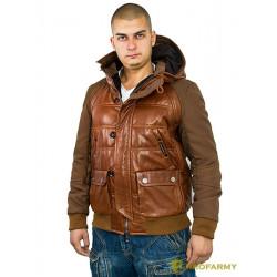 Куртка кожаная МК/17-3К Emora Red Brown