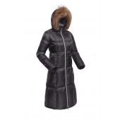 Пальто пуховое женское BASK DANA темно-серый