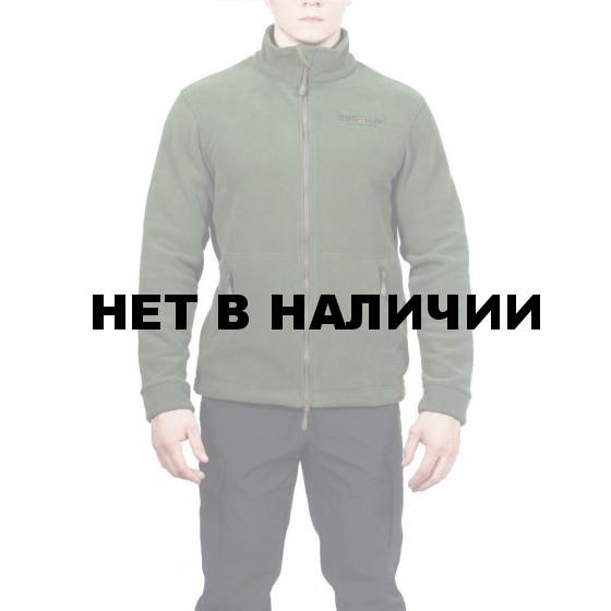 Куртка флисовая с воротником МПА-57 цвет темно-зеленый