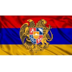 Флаг Армения с гербом