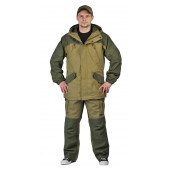 Костюм ГЕРКОН-ЛЕТО куртка/брюки, цвет: Св.хаки/Т.хаки, ткань : Палатка-270