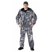 Костюм зимний «ВИХРЬ» куртка/полукомб. цвет:, камуфляж зимний дубок, ткань : Алова