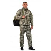 Костюм ТУРИСТ 3 куртка/брюки, цвет:, камуфляж Цифра св.серый, ткань : Грета