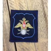 Нашивка на рукав с липучкой Военные представительства 300 приказ синий голубой кант вышивка шелк