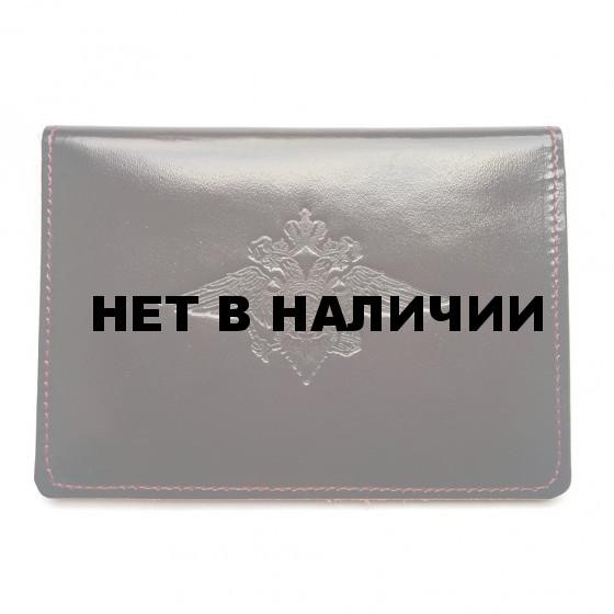 Обложка АВТО МВД РФ с тиснением кожа