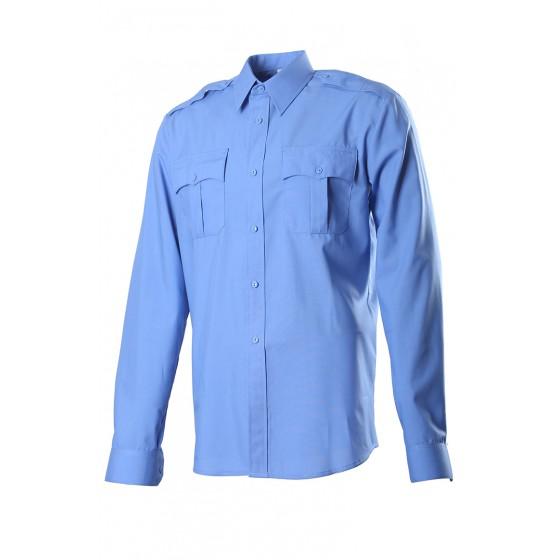 Сорочка, длинный рукав, Сорочечная голубая 527