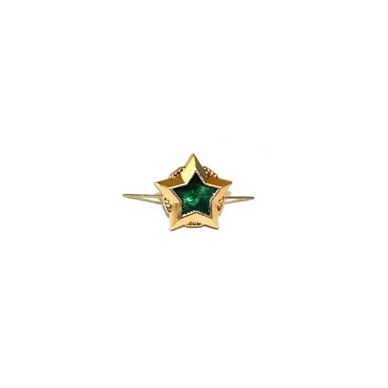 Знак различия Звезда ФССП малая золотая металл