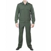 Костюм летний МПА-35-03 с длинным рукавом Сухопутные войска (Темно-зел. Габардин)