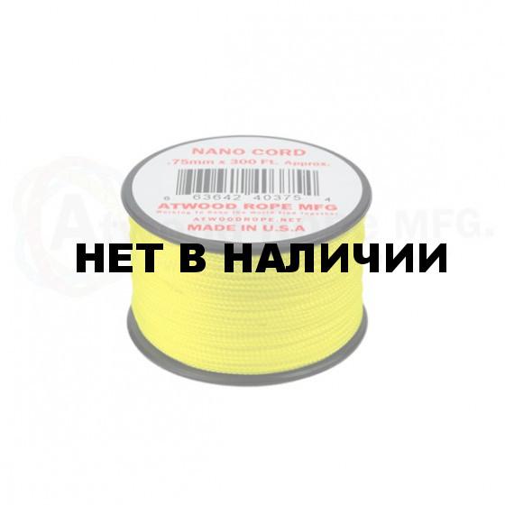 Паракорд ATWOODROPE .75мм x 300' NANO CORD 90м neon yellow