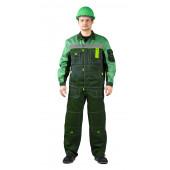 Костюм РОЛЬФ куртка/полукомбинезон, темно-зеленый/светло-зеленый