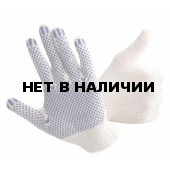 Перчатки х/б Эконом ПВХ-точка 10кл