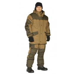 Костюм зимний ГОРКА куртка/брюки, цвет: св.хаки/т.хаки, ткань : Полибрезент/Полибрезент