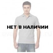 Рубашка-поло с манжетами, 200 г/м.кв., 100% хлопок (цв.светло-серый) СЗ