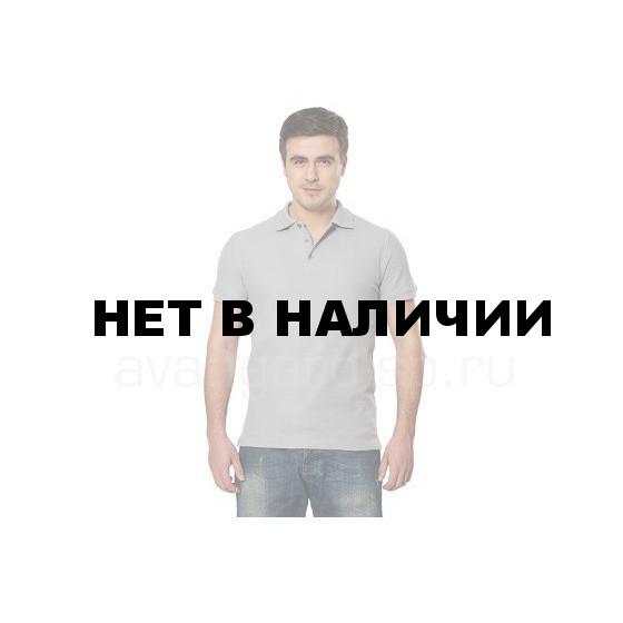 Рубашка-поло с манжетами, 200 г/м.кв., 100% хлопок (цв.св.серый) СЗ