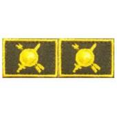 Эмблема петличная с липучкой РВСН нового образца повседневная вышивка шелк
