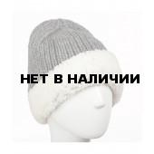 Шапка полушерстяная marhatter женская MWH 8892/F серый-меланж 088