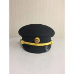 Фуражка ВМФ офисная черная габардин