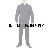 Костюм летний штабной с длинным рукавом Черный, ткань Рип-стоп