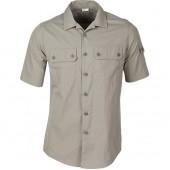 Рубашка М05 серо-бежевая
