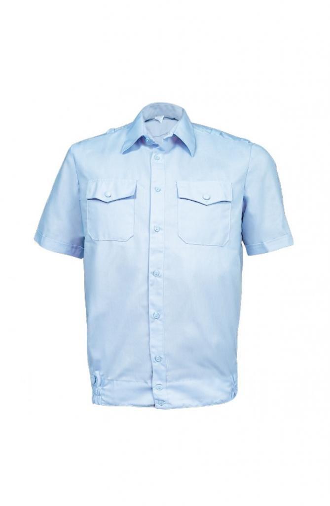 03f5524142f Рубашка Полиция светло-голубая короткий рукав