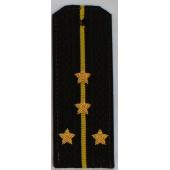 Погоны ВМФ вышитые Капитан-лейтенант вышитые повседневные