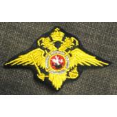 Нашивка на грудь с липучкой Орел МВД (пр.777) нового образца