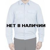 Рубашка Полиции серо-голубая с длинным рукавом индивидуальный пошив